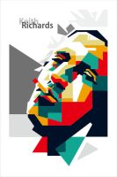 Keith Richard in WPAP by EDHO by edhoartwork