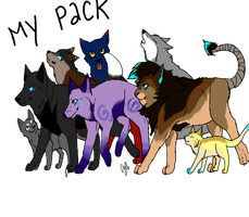 My Pack... by Yintheicewolf