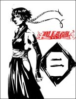 Bleach : Soi Fong bw by Kitsunebi777