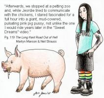 Marilyn Manson and the Pig by LilMissMousie