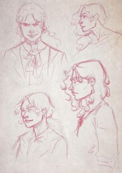 Lestat Preliminary Sketches by BloodyAlchemist