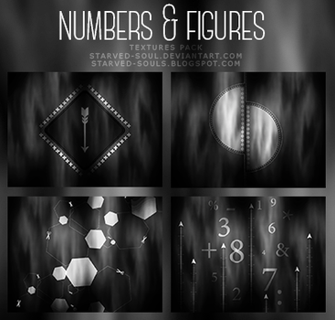 Numbers + Figures Textures Pack By Starved-soul by Starved-Soul