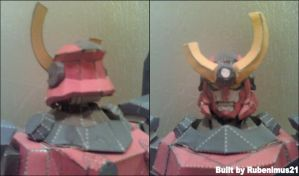 Gurren Lagann Head Papercraft Finished by rubenimus21