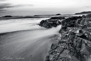 Black And White Hills Beach by AwakenendByDreams