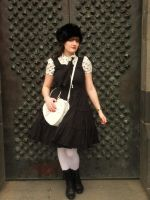 Black and White Classic Lolita by AyraLeona