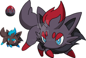 570 - Zorua - Art v.2 by Tails19950