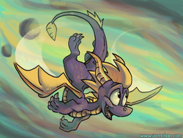 Spyro Flight by iveechan-art