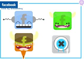 facebook icons.... by armadilloboy