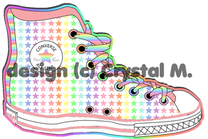 Pastel All Stars Chuckies by Crystal-Moore