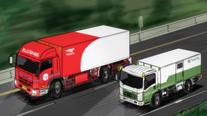 Isuzu truck - Asia highway battle by VachalenXEON