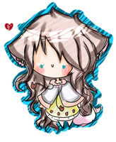 Chibi REQ- Mittsu-chan by BubbIeBunny