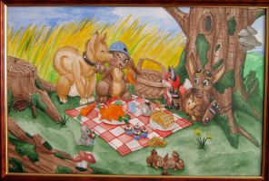 Critters picnic by s0lar1x