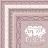Certificate Borders Brush Set by Romenig