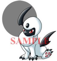 Chibi Absol by DarkFeather