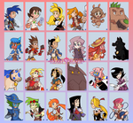 HB: Fighter Character Collection by The-Knick