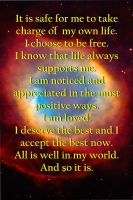 Affirmation, September 2012 by TrishRDesigns