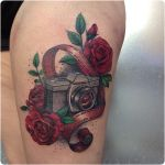 Camera and Roses by Jessibels