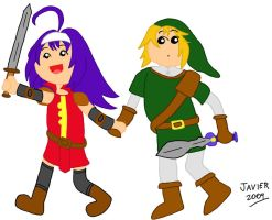 Mia and Link by javeman