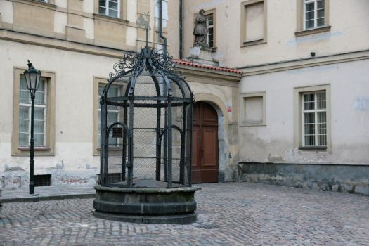 Public Cage in Prague by barefootliam