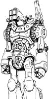 Dreadnaught Giant Robot - Rifter #60 by BrianManning