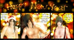 Uchihas wishes you a Happy New Year! by Lesya7