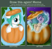 Redraw This: Okiku Pumpkin by SpectralPony