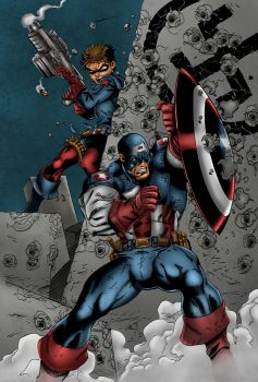 Captain America And Bucky Colors by likwidlead