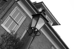 Tilted Lamp Post by Jordanart4peace