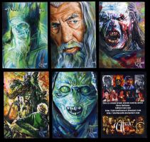 LOTR sketch cards by choffman36