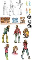 Zombie Comic Sketchdump by Aileen-Kailum
