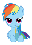 Rainbow Dash Drinking by Dribmeg
