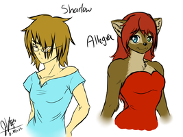 Commission:Shadow and Allegra by invaderwolfgirl