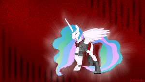 Metal/Punk Celestia Wallpaper 1080p (Red) by Sludge888