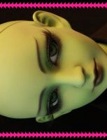 Elphaba Faceup 2 by PinkHazard