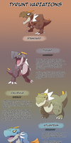 Tyrunt Subspecies chart by Mad-Revolution