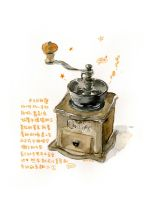 Hand-grinding coffee machine by amoykid