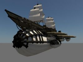 Flying Battleship Textured 02 by cmdesigna