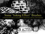 Inking Effect Brushes by calthyechild