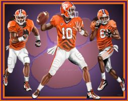 Clemson Triple Threat by lberry1976