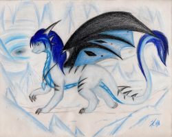 Crystal the dragoness ~ Prismacolor test by Dragon-Wish