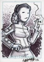 Bespin Leia Sketchcard by stratosmacca
