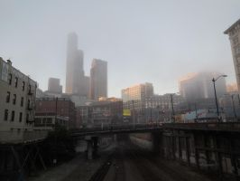 Seattle in Fog by LEXLOTHOR