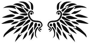 Black Wings Tattoo Design 01 by xArachnoFreakx