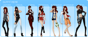 MM: Extended Outfit Meme (Redo) by Ushimipan