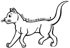 CATLineart_Free Use_READ RULES by Fantasy-and-Fiction