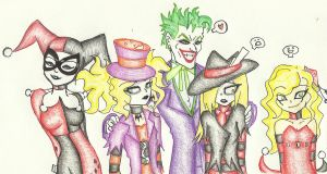2 Jokers 2 Jesters and a Queen by BatzyDRae