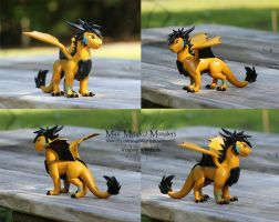 Rayva, Custom Dragon/Art-Trade by MiniMythicalMonsters