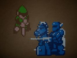 Link + Ironknuckle bead battle by zaghrenaut