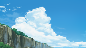 Clouds And Cliff by DeannART