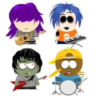 Gorillaz South Park Style by GoRiLlAz6666